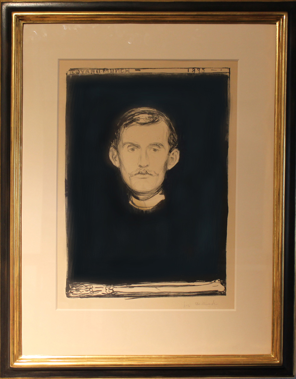 Edvard Much Selvportrett. 1895. Woll 37n